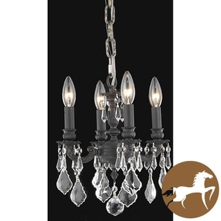 Christopher Knight Home Crystal 4-light Dark Bronze Finish Chandelier