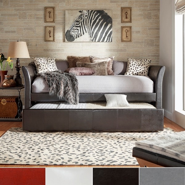 INSPIRE Q Deco Faux Leather Daybed and Trundle