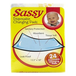 Sassy Disposable Polyfiber Changing Pads (Pack of 24)