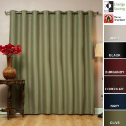Wide Width Fire Retardant 95 Inch Polyester Blackout Curtain Panel