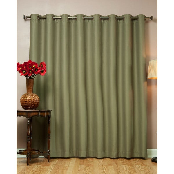 Wide Fire-retardant 96-inch Polyester Blackout Curtain Panel