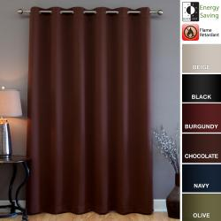 Wide-width Fire Retardant 84-inch Blackout Curtain Panel