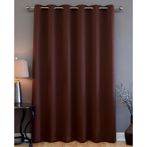 Aurora Home Wide Fire Retardant 84-inch Blackout Curtain Panel