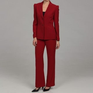 Original Tahari ASL Women39s Red 3button Pant Suit  Free Shipping Today