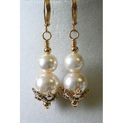 """Roselind"" Glass Pearl Earrings"