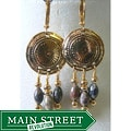Goldtone Jasper 'Consuella' Earrings