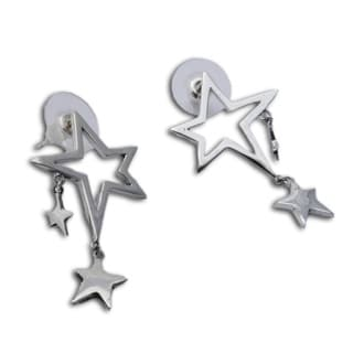 Sterling Silver 'I'm a Star' Stud Earrings (India)