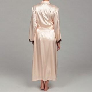 Jones New York Women's Peach Silk-Like Robe