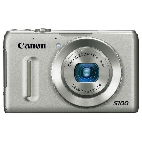 Canon PowerShot S100 12.1MP Silver Digital Camera