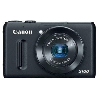 Canon PowerShot S100 12.1MP Black Digital Camera
