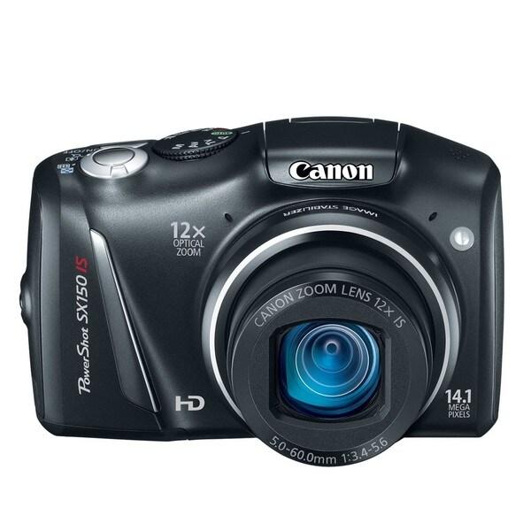 Canon PowerShot SX150 IS Black Digital Camera