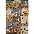 Nourison Hand-Tufted Contours Multicolor Polyester Rug (5' x 7'6