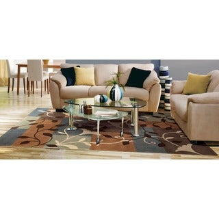 "Nourison Hand-Tufted Contours Multicolor Polyester Rug (5' x 7'6"")"