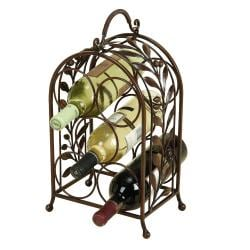 Olive Leaves Wrought Iron Wine Holder Rack