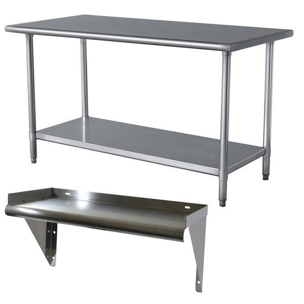 Stainless Steel Work Table and Shelf