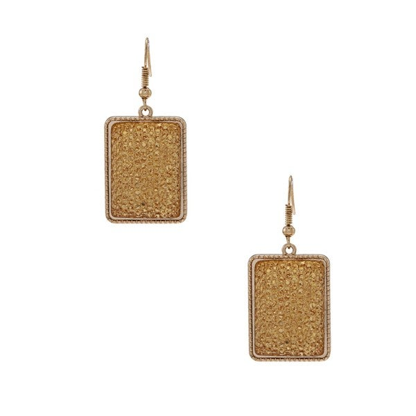 NEXTE Jewelry Goldtone Champagne Acrylic Bead Earrings