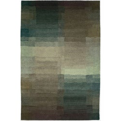 Napalese Reflections Plum Wool Rug (8 x 10)