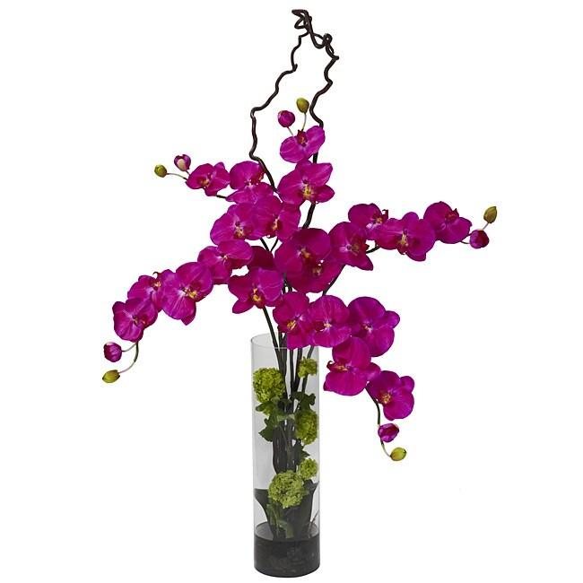 Giant Phalaenopsis and Hydrangea Silk Flower Arrangement