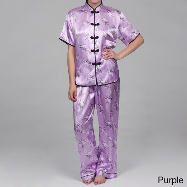 Alexander Del Rossa Women's Traditional Chinese Inspired Pajamas