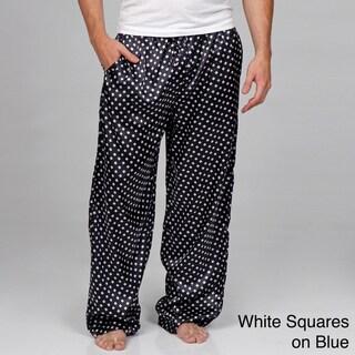 Alexander Del Rossa Men's Classic Satin Pajama Pants