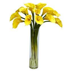 Cylinder Vase Calla Lilly Flower Arrangement