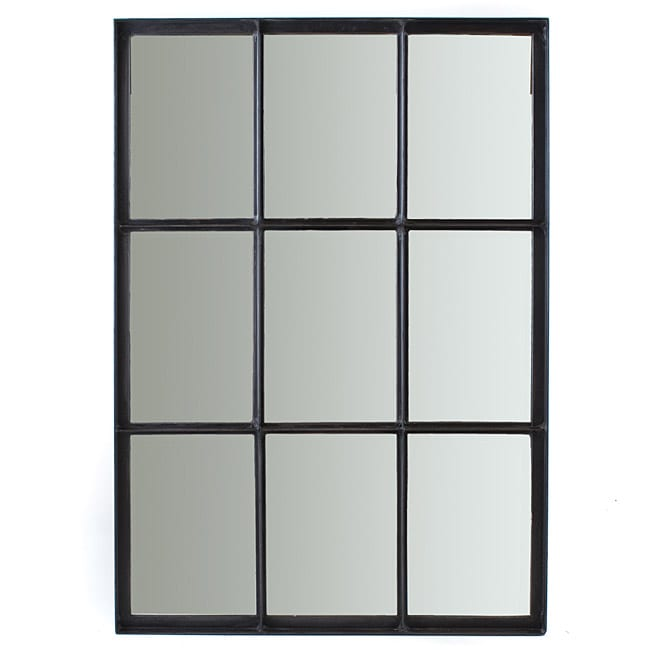 Iron 9 Pane Window Mirror India 13904501 Overstock
