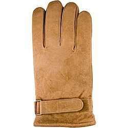 Isotoner Men's Large Chestnut Suede Gloves