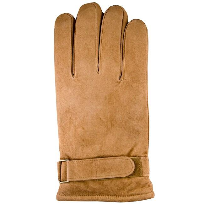 Isotoner Men's Medium Chestnut Suede Gloves