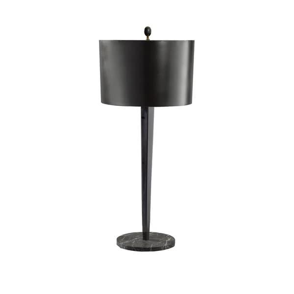 Black Chrome/ Black Marble Table Lamp