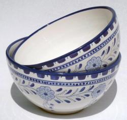 Set of 2 Azoura Design 8-in Medium Serving Bowls (Tunisia)