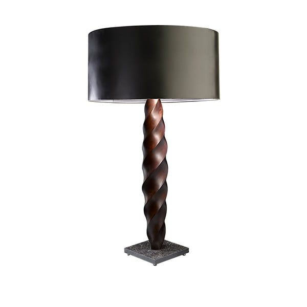 Large Rope Twist 8A Double Tapering Table Lamp