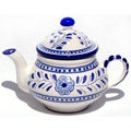 Azoura Design Ceramic 24-oz Teapot (Tunisia)