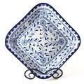 Azoura Design Ceramic 12-inch Square Bowl (Tunisia)