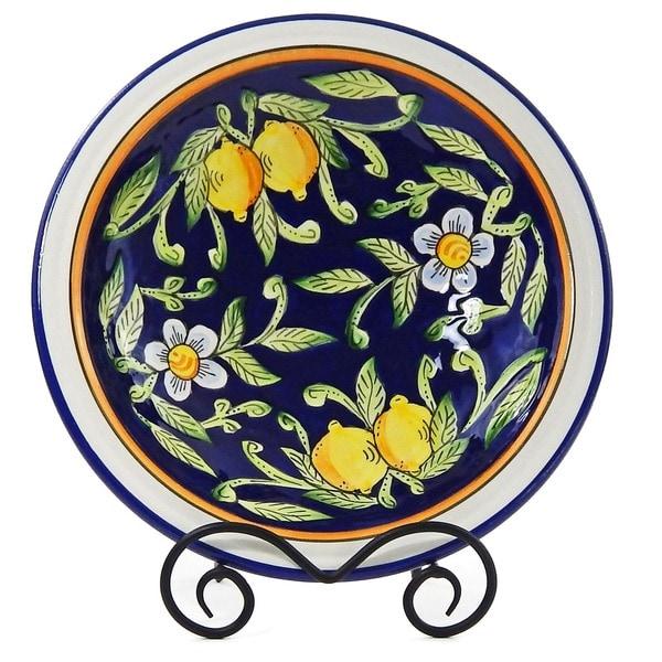 Citronique Design Ceramic 3-inch Deep Serving Bowl (Tunisia)