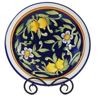Citronique Design Ceramic 3-inch Deep Serving Bowl (Tunisia)