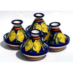 Set of 4 Citronique Design Ceramic Mini Tagines (Tunisia)