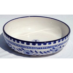 Azoura Design 12-inch Wide Serve Bowl (Tunisia)