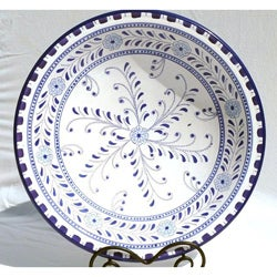 Azoura Design Ceramic 16-inch Serving Bowl (Tunisia)