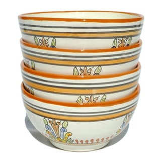 Sauvage Design Ceramic 5.5-inch Soup Bowls (Tunisia)