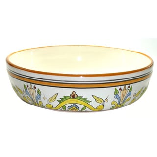 Sauvage Design Ceramic 12-inch Serving Bowl (Tunisia)