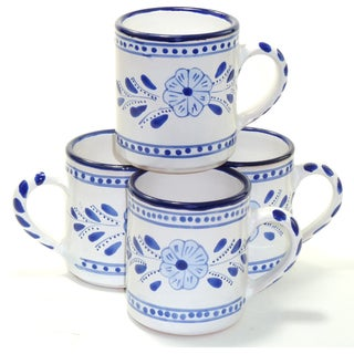 Set of 4 Azoura Design 12-oz Coffee Mugs (Tunisia)
