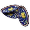 Set of 4 Citronique Design Ceramic 9-inch Oval Platters (Tunisia)