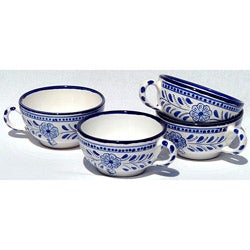 Set of 4 Azoura Design 14-oz Latte/ Soup Mugs (Tunisia)