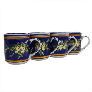 Set of 4 Citronique Design 12-oz Coffee Mugs (Tunisia)