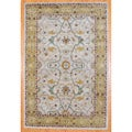 Indo Hand-Tufted Mahal Beige and Gold Wool Rug (6 x 9)
