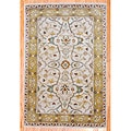 Indo Hand-tufted Mahal Beige and Gold Wool Rug (4' x 6')