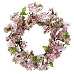 Round 24-inch Cherry Blossom Wreath