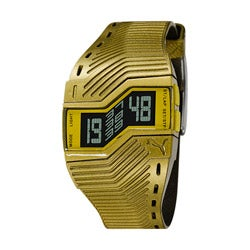 Puma Unisex 'TURN II' Metallic Goldtone Digital Watch