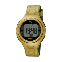 Puma Unisex 'Pulse' Metallic Goldtone Digital Heart Monitor Watch