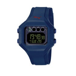 Puma Men's 'Bounce' Deep Blue Digital Watch